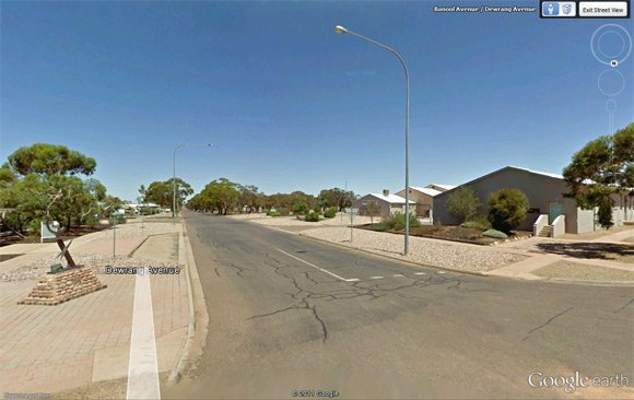 Woomera streets on Street View