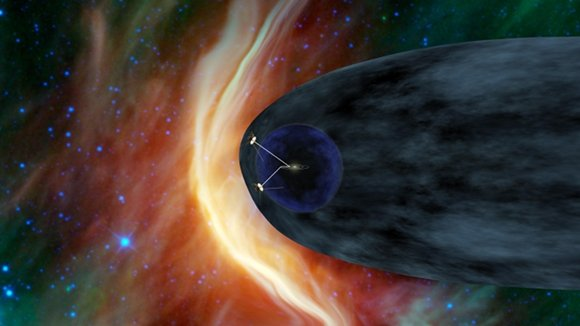 Artist's impression of Voyager 1 and 2 in the heliosheath Credit: NASA/JPL-Caltech