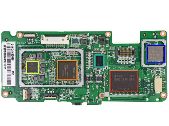 Amazon Kindle Fire: logic board
