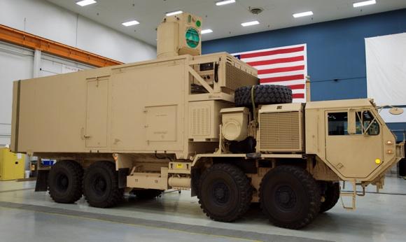 The High Energy Laser Technical Demonstrator. Credit: Boeing