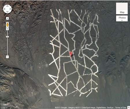 Chinese structure, credit Google Earth