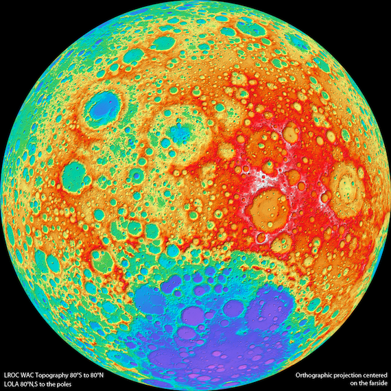 The farside of the moon, credit LROC