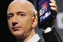 Jeff Bezos with a Kindle Fire