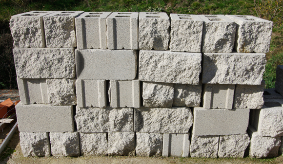 The concrete blocks available for our rocket motor testing