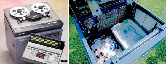 Mitsubishi X-880 32-track ProDigi recorder with beer cooler version