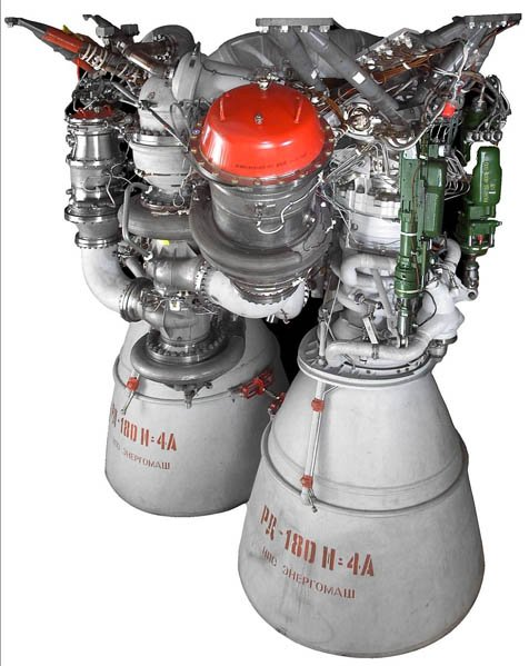 RD-180 rocket engine powering the Atlas V stage of the MSL launch vehicle