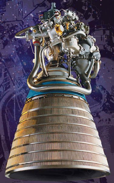 RL-10A rocket engine powering the Centaur stage of the MSL launch vehicle