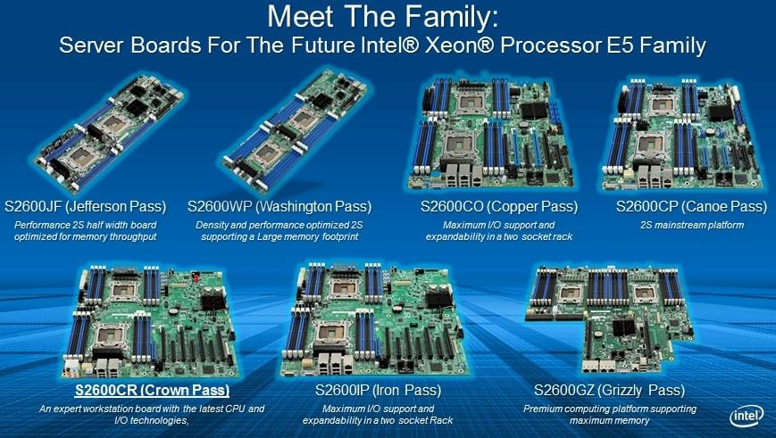 Intel Xeon E5 motherboards