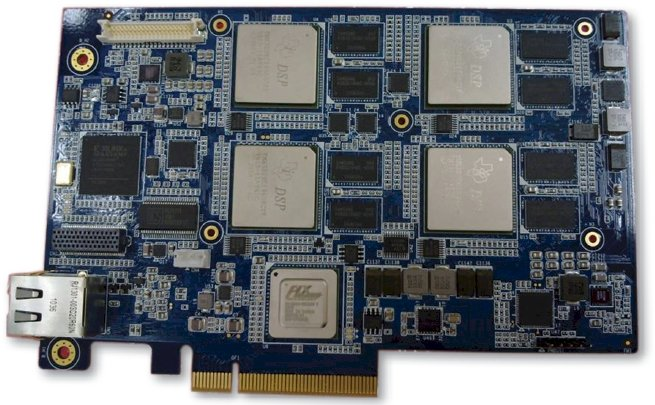 TI quad DSP card