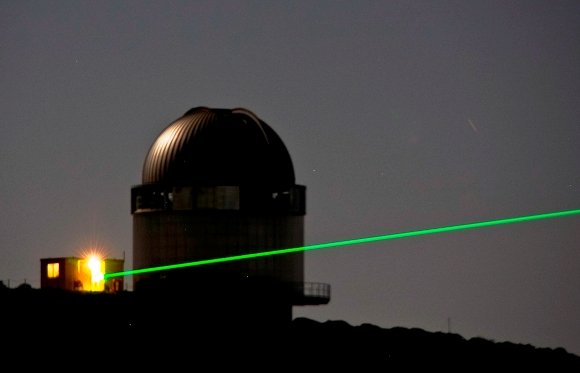 Infrared laser experiment for studying greenhouse gases