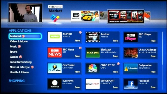 Smart TVs Apps on the Panasonic