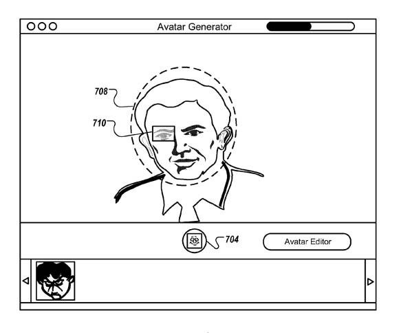 Apple avatar patent illustration