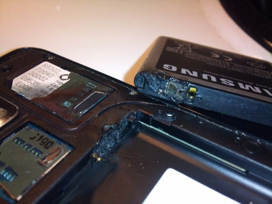 Samsung Galaxy S II post burn