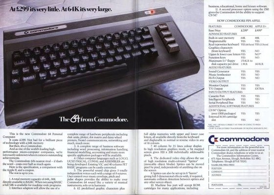 Commodore 64 UK advert