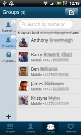 Go Contacts EX Android app screenshot