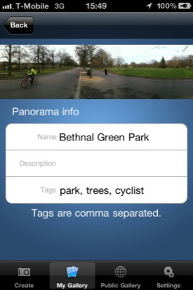 Dermandar iOS app screenshot