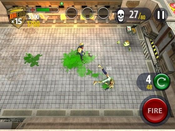 Judge Dredd vs Zombies iOS game screenshot