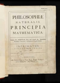 Philosophiæ naturalis principia mathematica title page