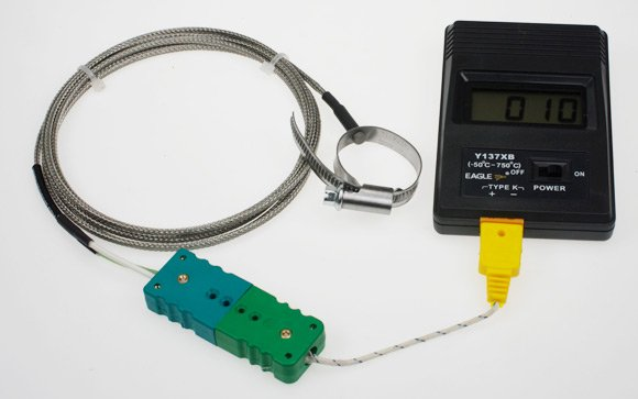 Our digital thermometer and ring thermocouple