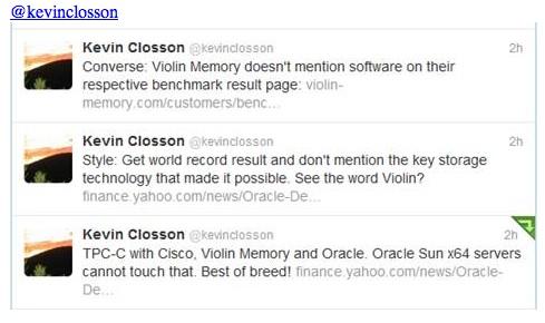 Kevin Closson tweets