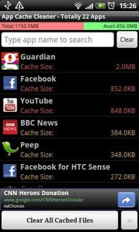 App Cache Cleaner android app screenshot