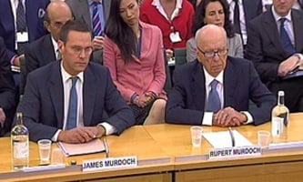 Rupert and James Murdoch