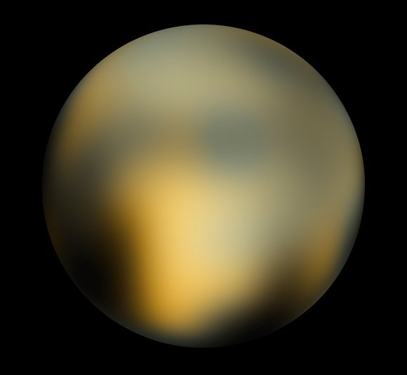 Hubble image of Pluto