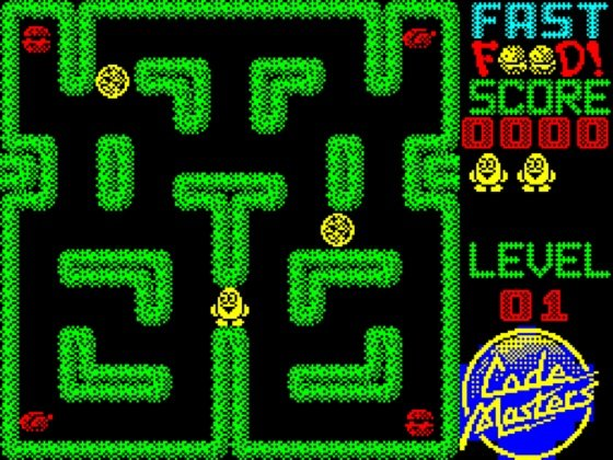 Fast Food ZX Spectrum screenshot