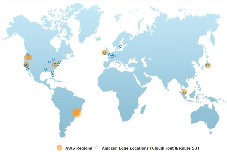 Amazon's AWS global footprint
