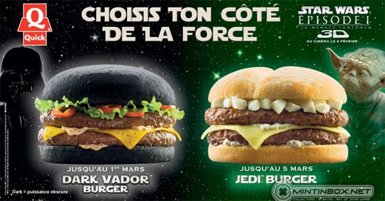 Quick's Star Wars burgers