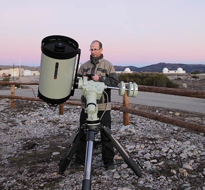 Astrophotographer Thierry Legault at the Calern plateau Observatory above Nice, France