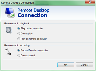 Remote Audio settings