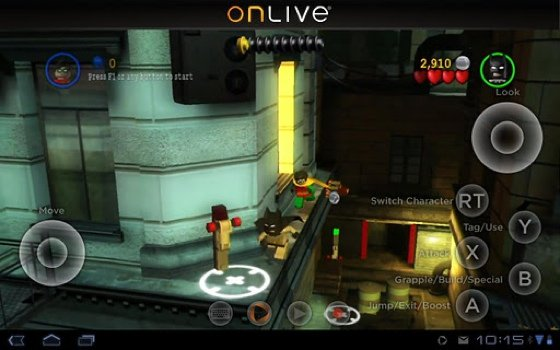 OnLive cloud gaming app
