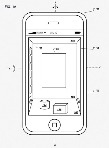 Apple patent, mobile 3D environment