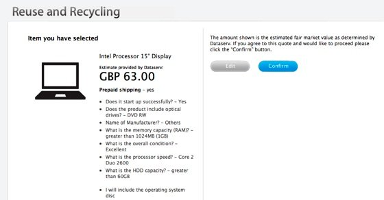 Apple Reuse and Recycling screenshot