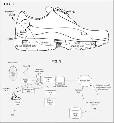Apple smart garment patent, credit US Patent Office