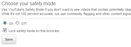 YouTube Safe Search