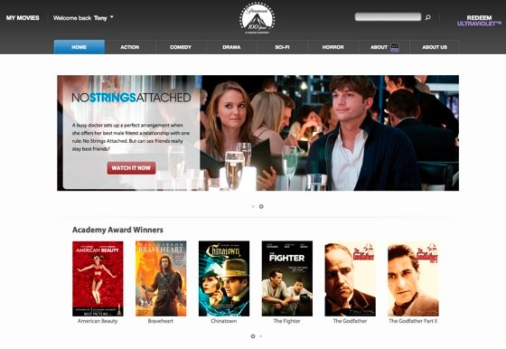 Paramount Ultraviolet-based cloud movie store