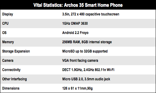 Archos 35 Smart Home Phone DECT Android ha