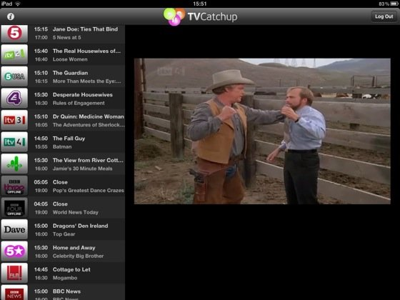 TVcatchup iOS app screenshot
