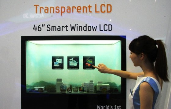 Samsung 46in transparent LCD screen
