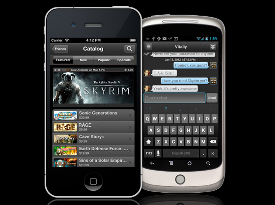 Steam on Mobile
