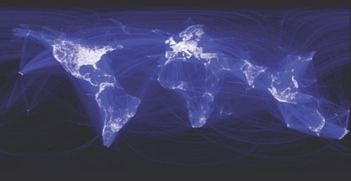 Facebook connection map
