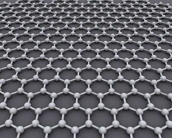 Graphene lattice, credit AlexanderAlUS,