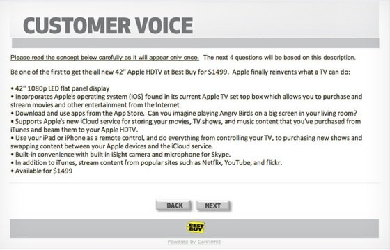 Best Buy Apple HDTV survey