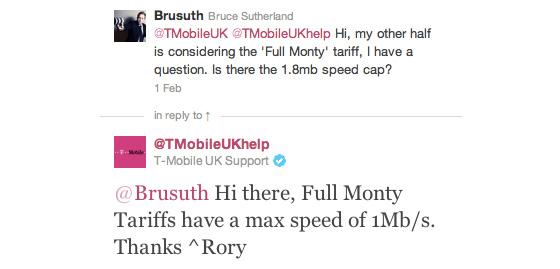 T-Mobile speed cap on Full Monty tariff?