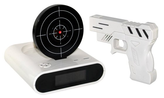 Laser Target Alarm Clock