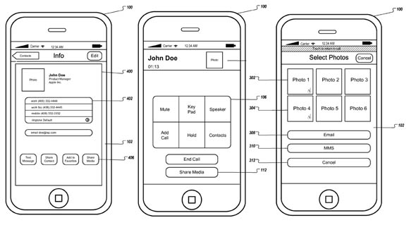 Apple media-binding patent application illustration