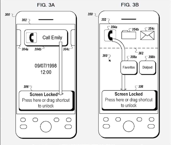 Google's new unlock patent, credit US Patent Office