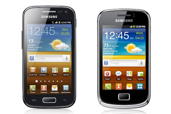 Samsung Galaxy Ace 2 and Galaxy Mini 2
